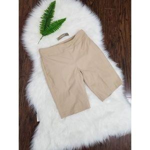 🆕️Chico's | Bermuda Tan 3/4 Shorts NWT Size 00